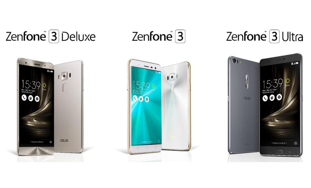 ASUS Zenfone 3 Deluxe, Zenfone 3 & Zenfone Ultra