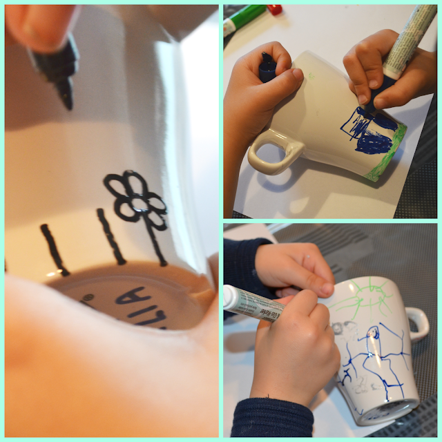 Dibujando en las tazas