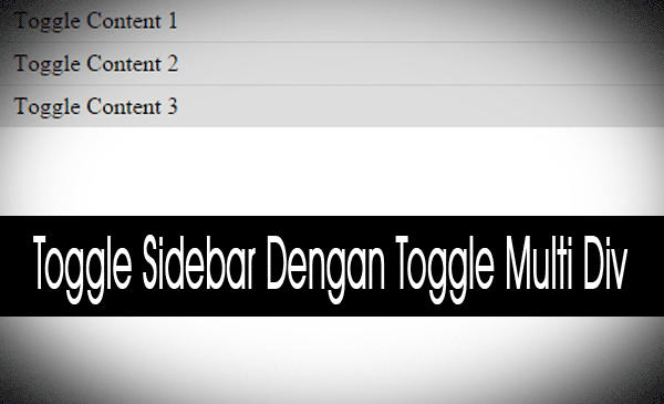 Toggle Widget Sidebar