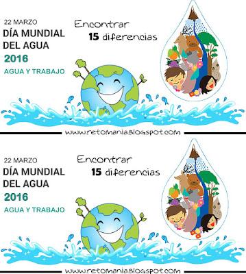 Diferencias, Encuentras las diferencias, Día del agua