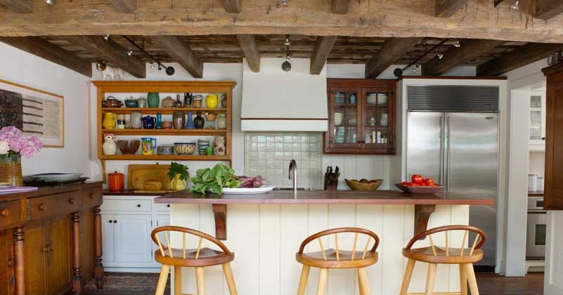 Vintage Farmhouse New Kitchen for 18th Century House