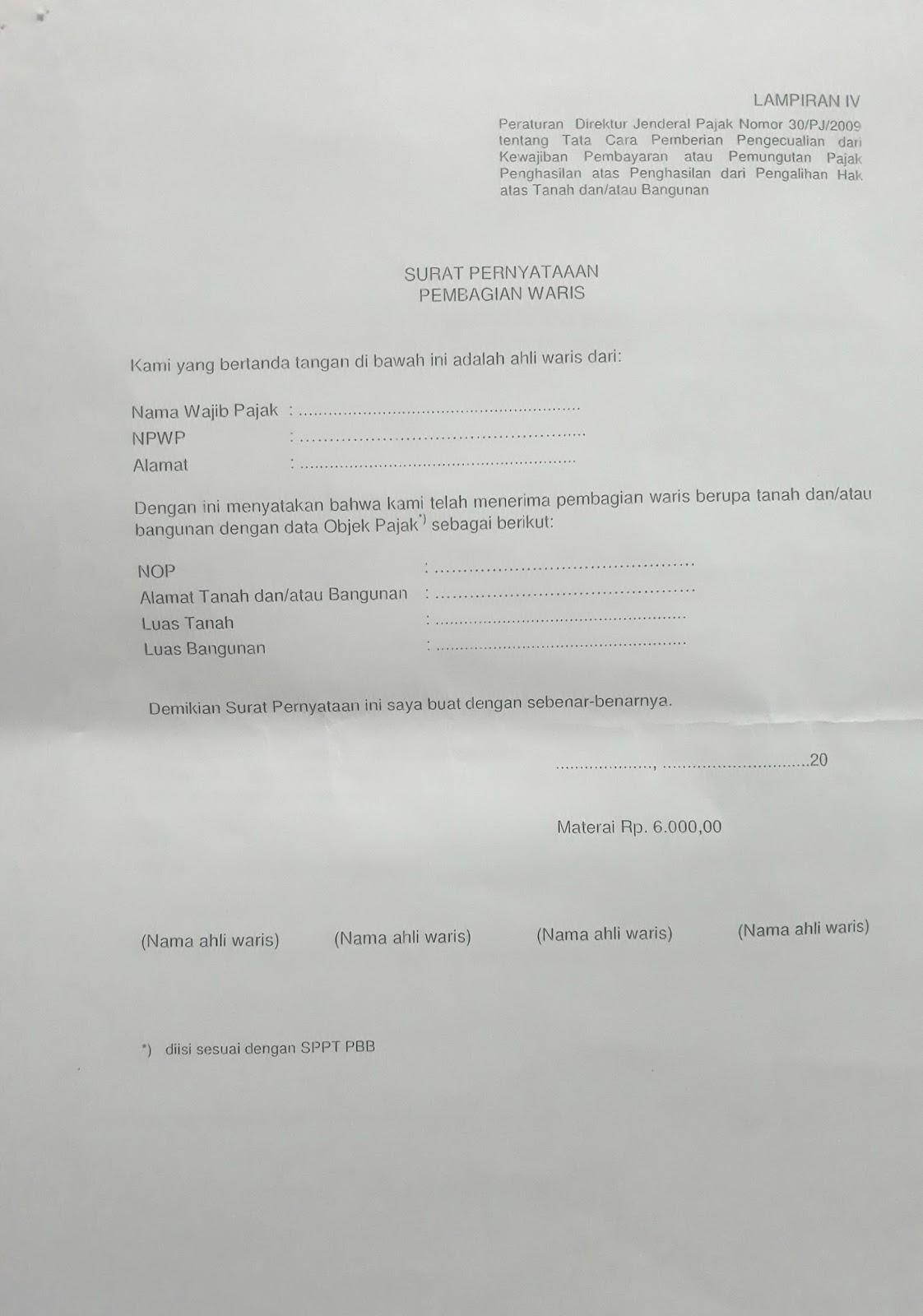 Skb Surat Keterangan Bebas Pph Pengalihan Atas Tanah Dan Atau