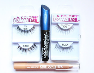 L.A. Colors Ultimate Eyeliner, Dramitlash, Contour Stick Highlight