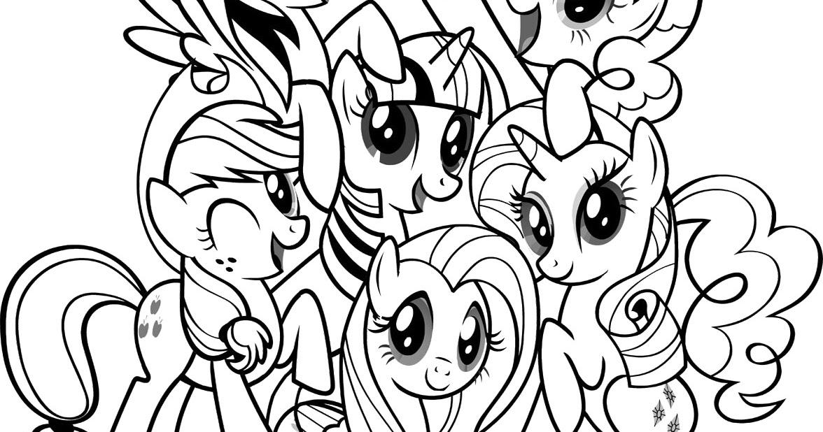 Gambar Mewarnai My Little Pony