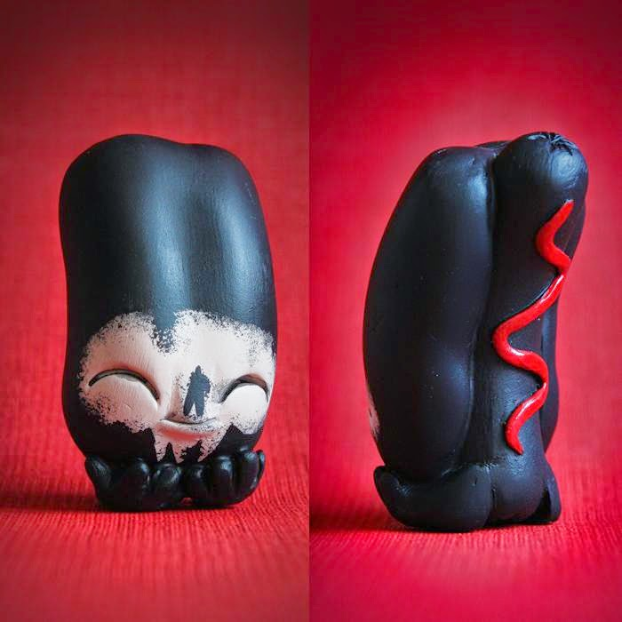"""Skull Face"" Edition Watson Leverton Hot Dog Resin Figure by UME Toys"