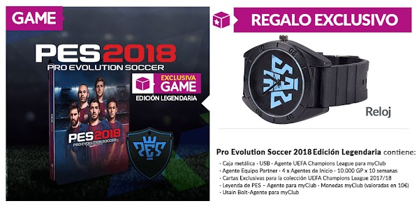 PES 2018, edición exclusiva y regalo en GAME