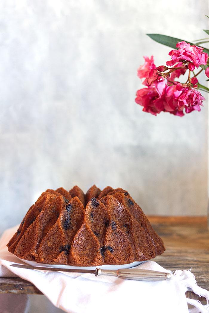 Bundt cake de arándanos