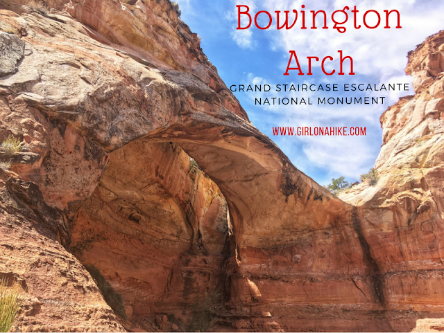 Hiking to Bowington Arch, Grand Staircase Escalante National Monument