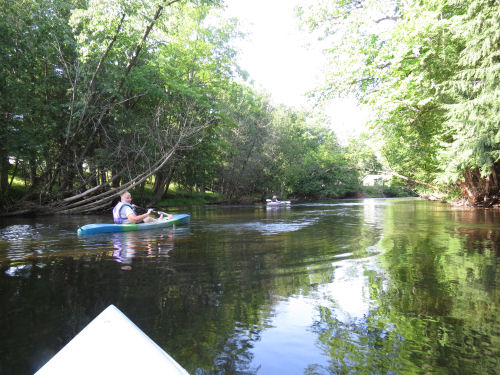 kayaking the South Branch of the Pere Marquette
