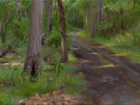 A Forest Path, Joseph Daily, International Art Gallery, Portrait Fine Arts, American Painters