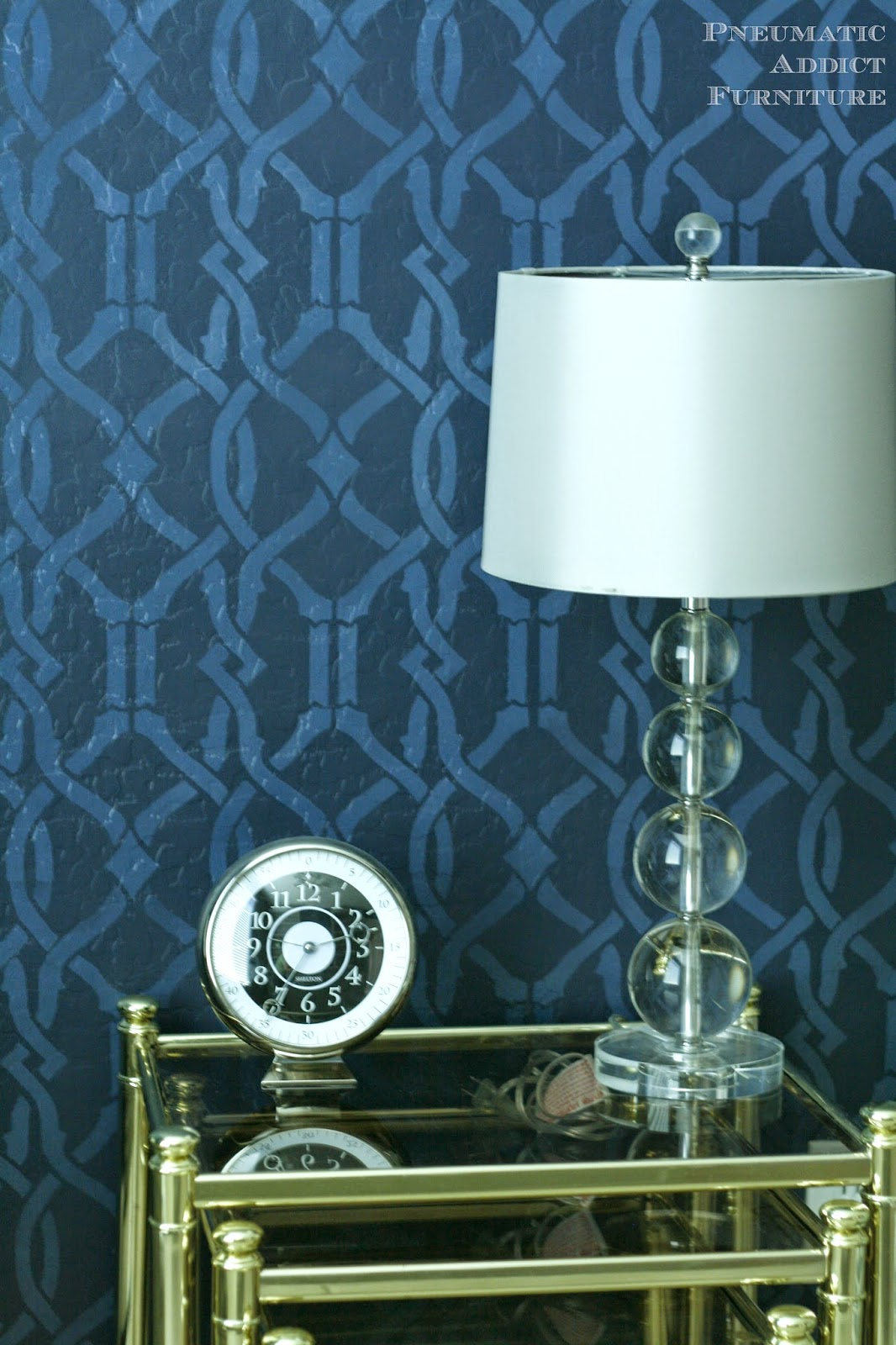 How to create a tone on tone pattern on a wall using a stencil.