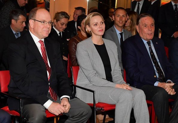 Princess Charlene wore an outfit by Akris