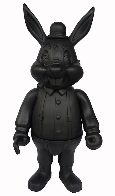 Super Festival Exclusive Blackout Edition A Clockwork Carrot Vinyl Figure by Frank Kozik