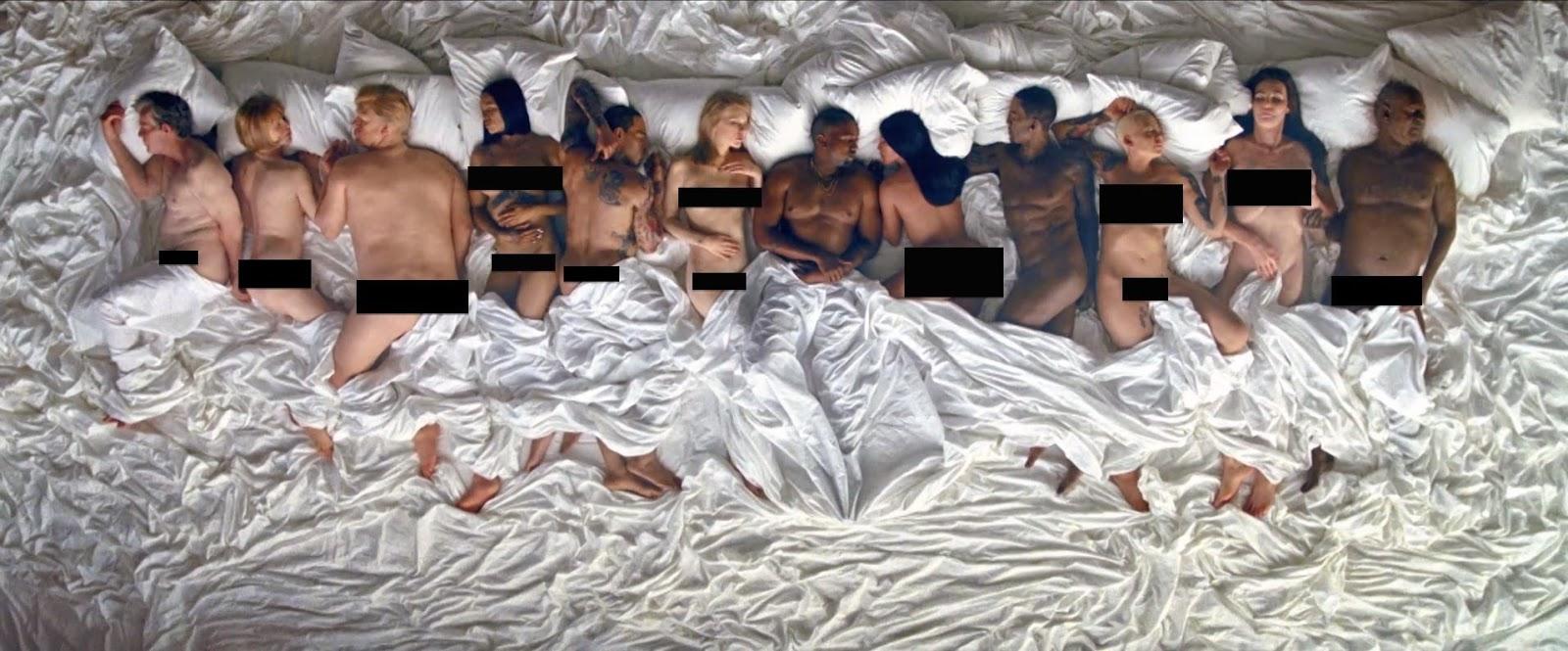 Kanye West Naked Music Video