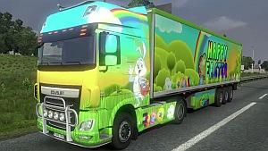 Happy Easter DAF Euro 6 skin + trailer