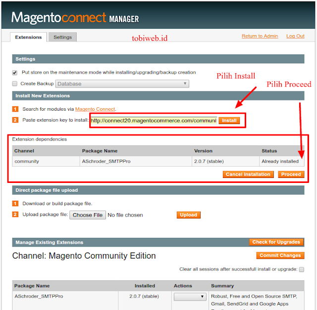 Tutorial Magento : Mengenal Magento Connnect Manager, Mengistall Plugin Di Magento, Mengistall Extension Di Magento