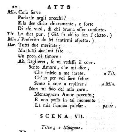 Fra i due litiganti de Sarti - Sento Amore