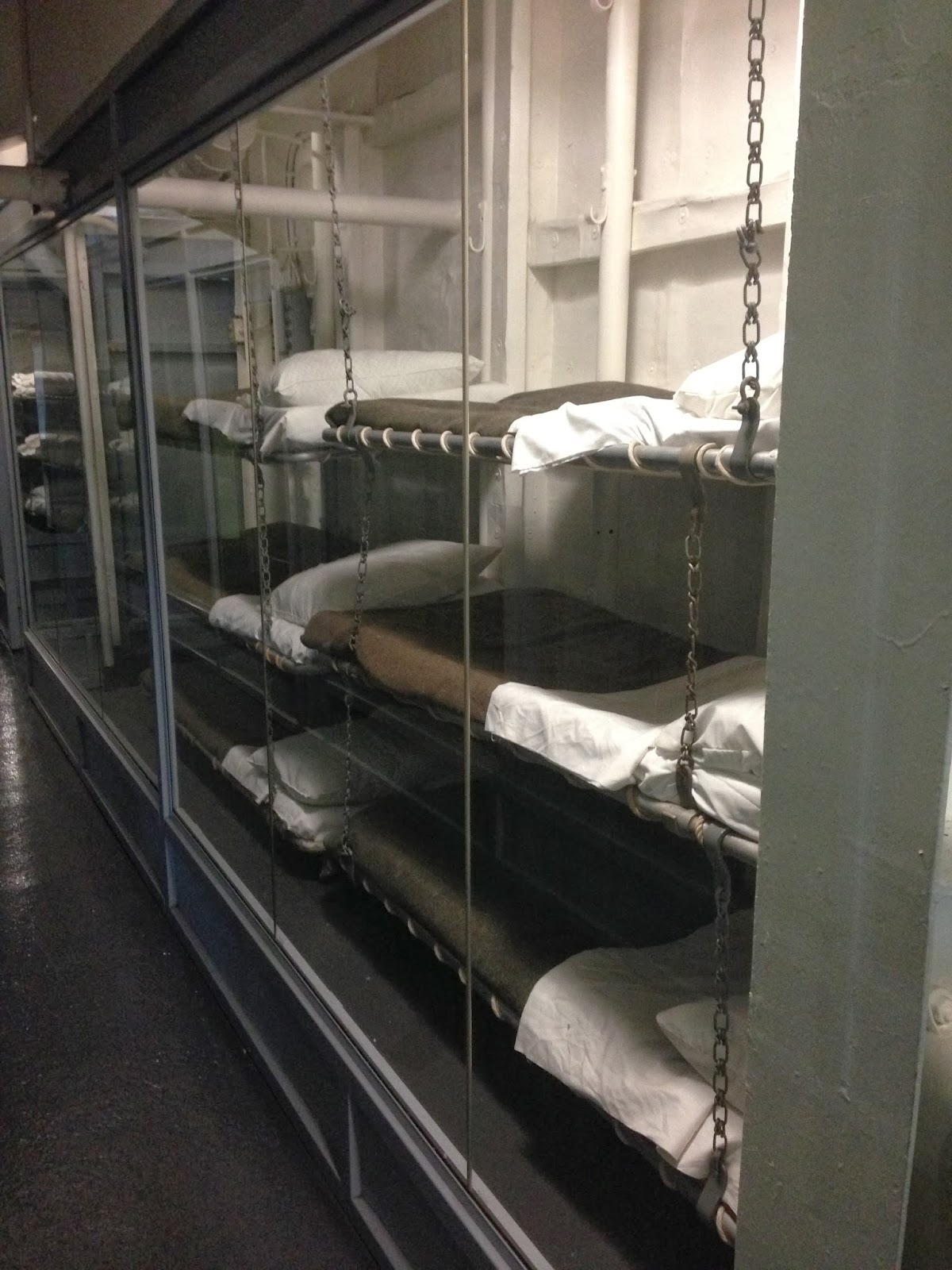 intrepid warship tiny bunk beds sleeping headquarters