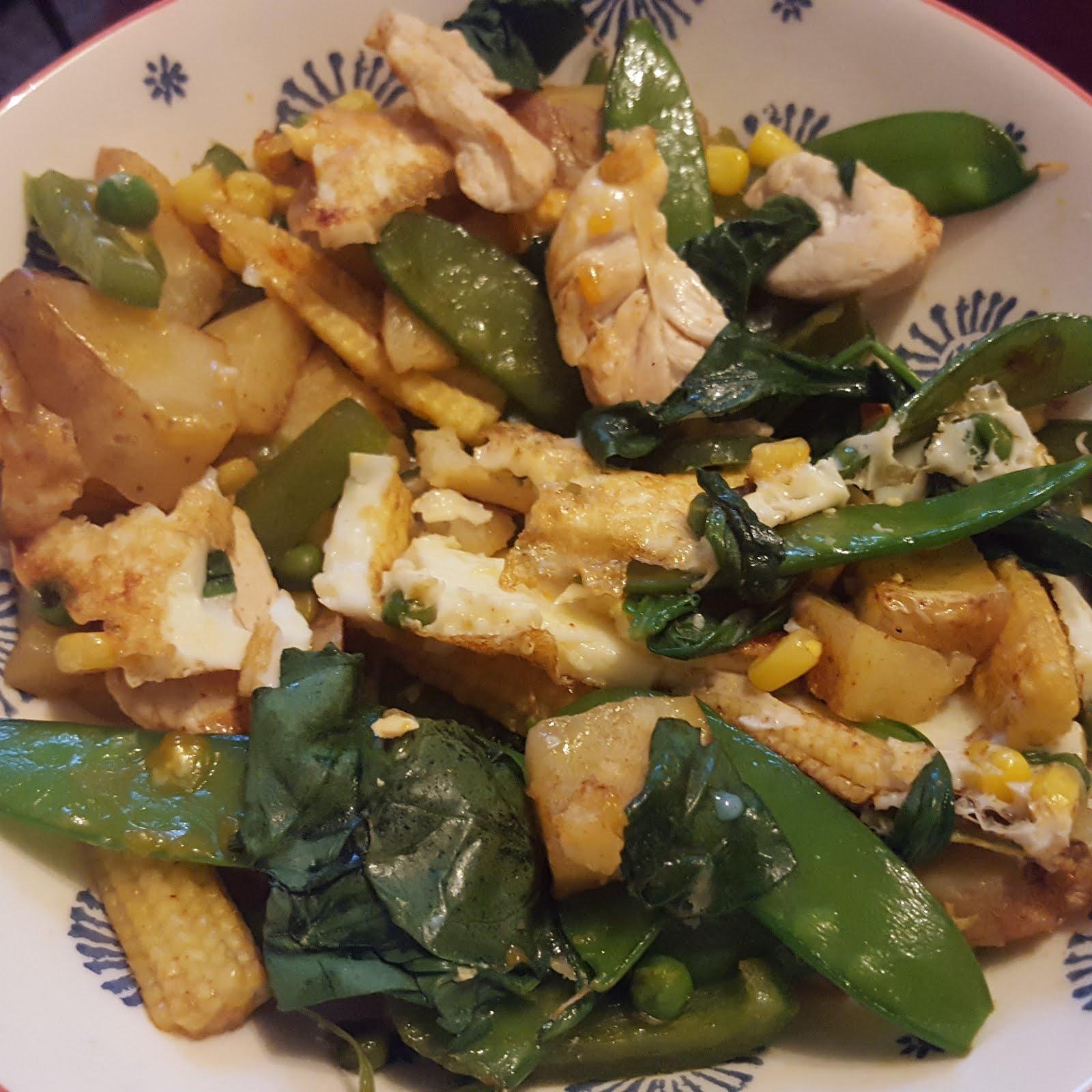 Joe Wicks Lean in 15 Chicken and potato hash potatoe