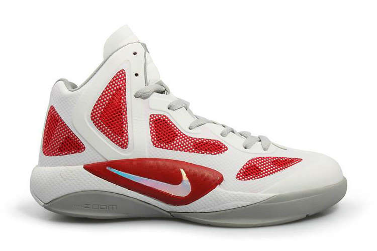 2346eb31e9a8 Nike Zoom Hyperfuse 2011 White Metallic Luster Sport Red 454136-101 ...