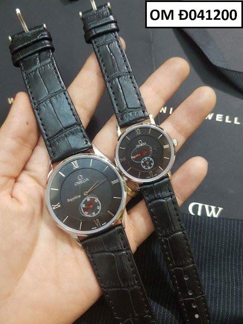 Đồng hồ cặp đôi dây da OM Đ041200