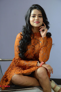 Actress Bhavya Sri Stills in Lace Gown at Kali Movie Audio Launch  0052