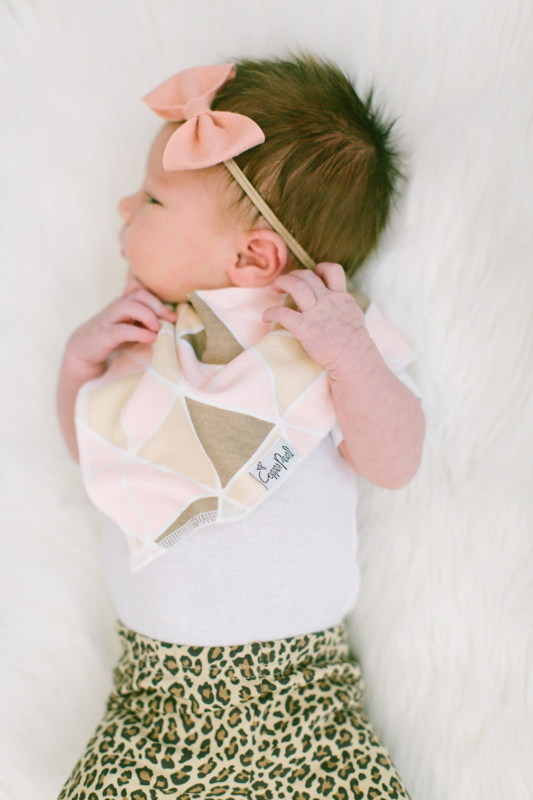 Drool Bibs, Baby Style, Copper Pearl