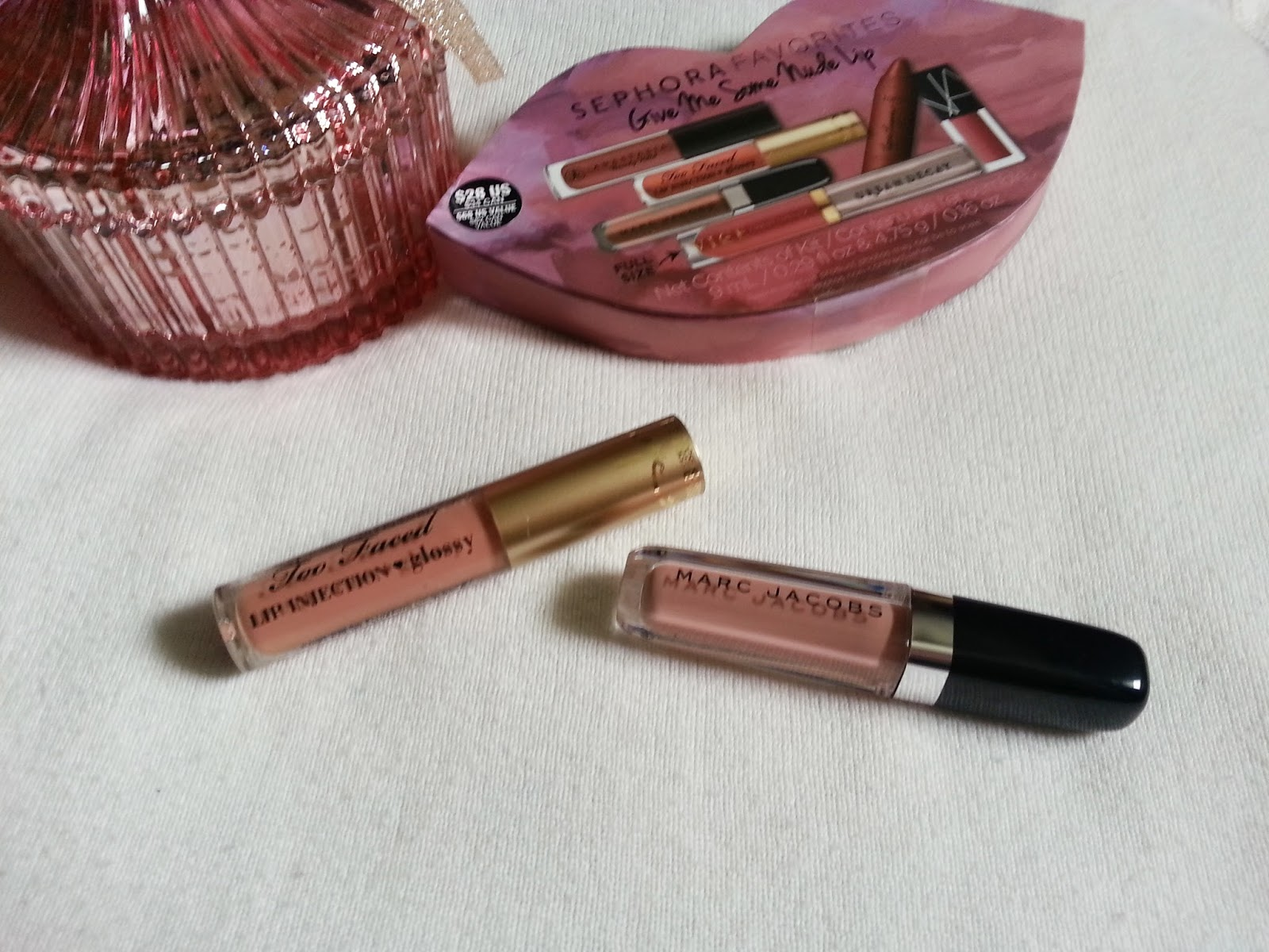 Deidres Discoveries Sephora Favorites Give Me Some Nude Lip De Velvet Beverly Too Faced Injection Glossy In Spice Girl Pink This Moisture Rich Gloss Is Infused With Faceds Bestselling Formula To Create