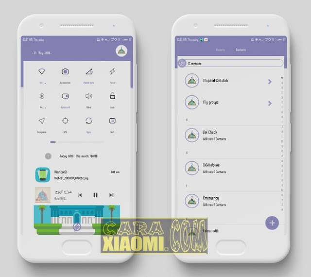 Screenshoot Thema Xiaomi Ramadhan Flat Light Theme Mtz For V9 / V8 Theme