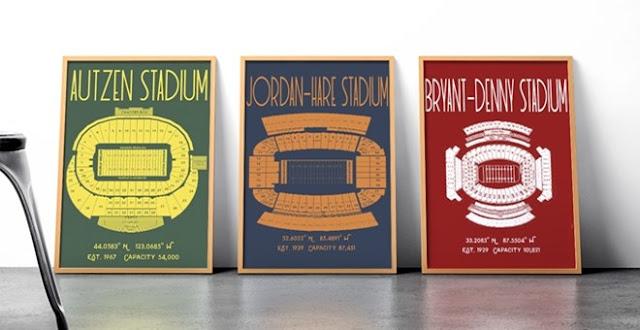 college stadium posters