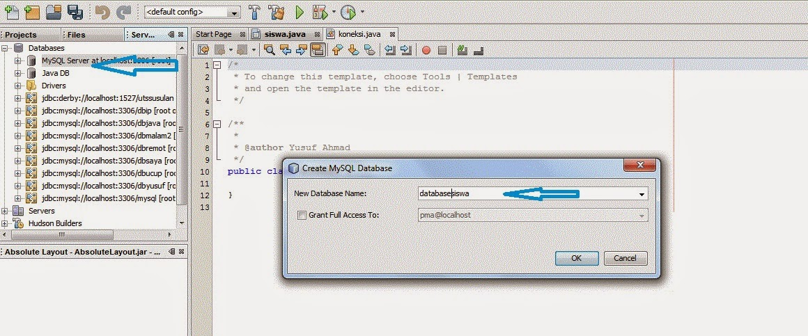 Cara Koneksi Database Mysql Dengan Java Netbeans