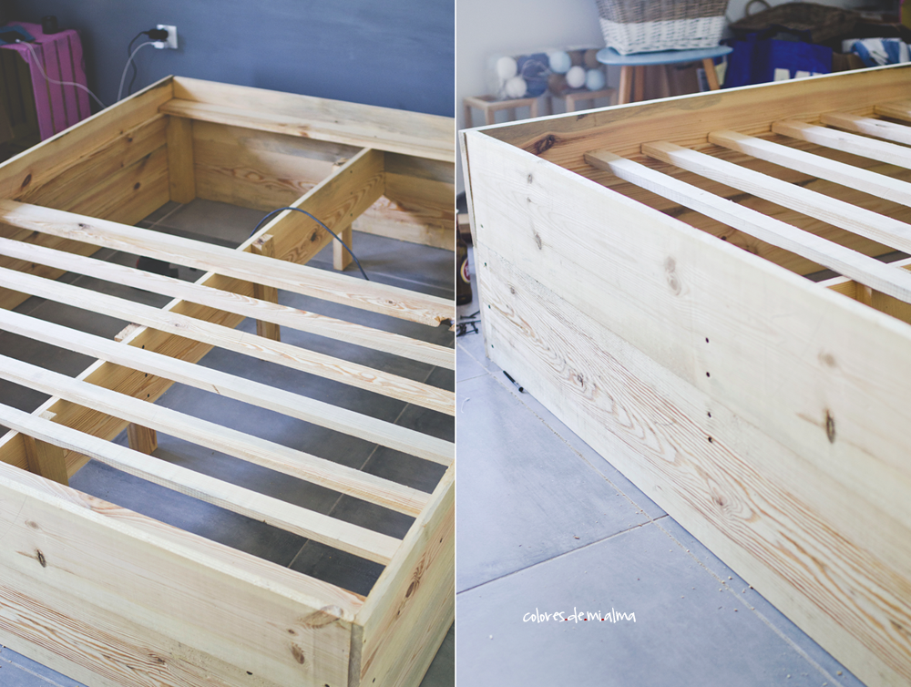 wood bed DIY