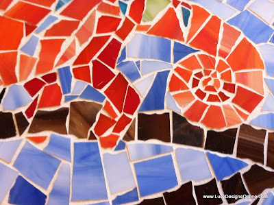 mosaic chameleon stained glass mosaic