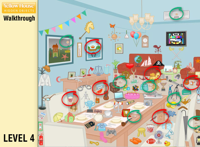 Yellow House Hidden Objects Level 4