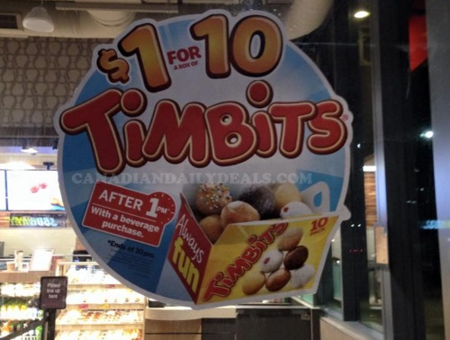 Tim Hortons $1 For 10 Timbits