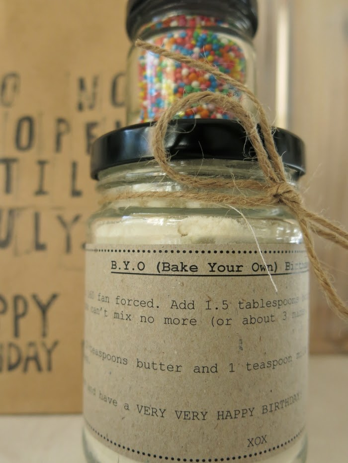 Birthday Cake Mix In A Jar Diy