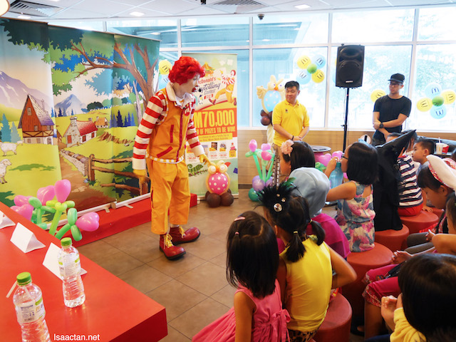 The children loved their session with Ronald McDonald