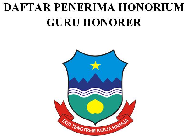 Format Daftar Penerima Honorium Guru Honorer untuk Berkas Akreditasi Sekolah SD-SMP-SMA