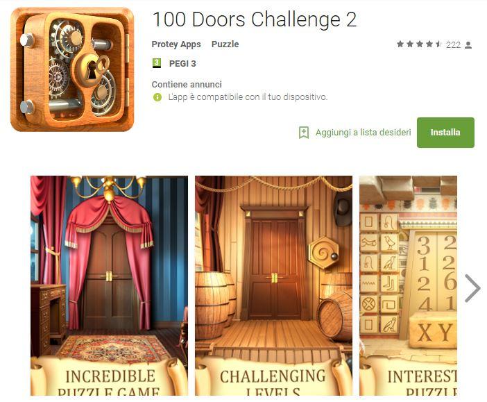 Soluzioni 100 Doors Challenge 2 livello 81 82 83 84 85 86 87 88 89 90 | Trucchi e Walkthrough level
