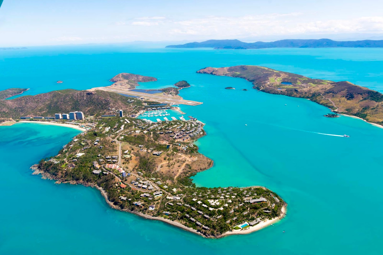 flying over hamilton island