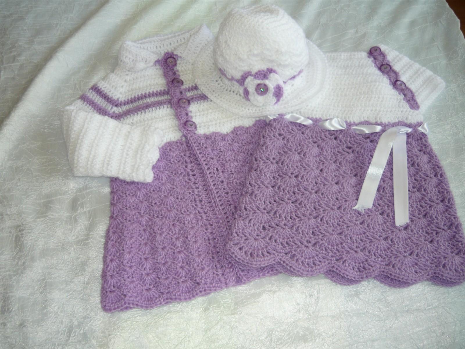 Famoso Vestiti uncinetto e ferri: Completo per bambine MA56