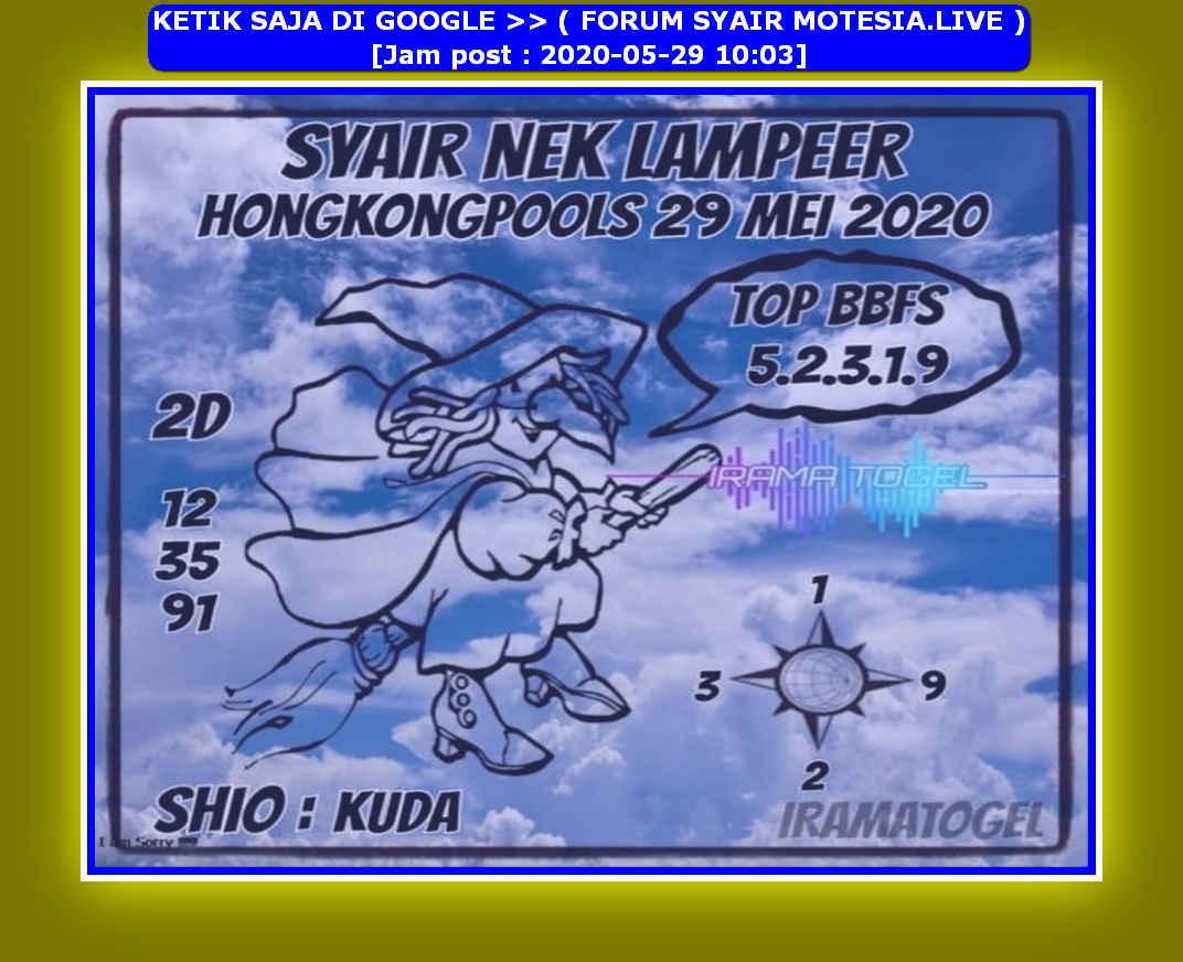 Kode syair Hongkong Jumat 29 Mei 2020 128