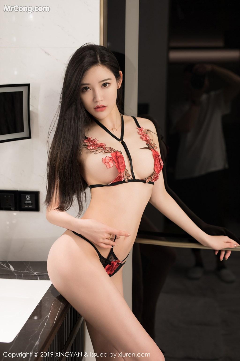 Image XingYan-Vol.121-He-Chen-Xi-MrCong.com-047 in post XingYan Vol.121: He Chen Xi (何晨曦) (49 ảnh)