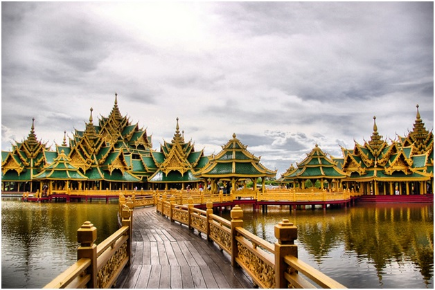 Salah satu kemegahan Grand Palace di Thailand