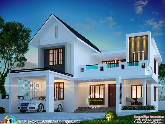 1952 square feet mixed roof modern Kerala home