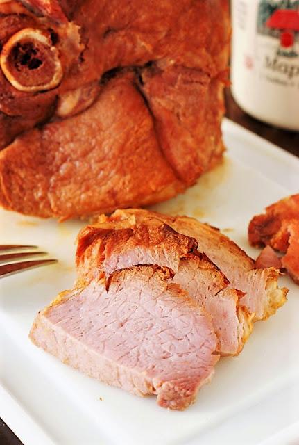 Maple Crock Pot Ham Recipe image