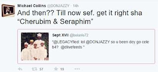Is Don Jazzy Cherubim and Seraphim?