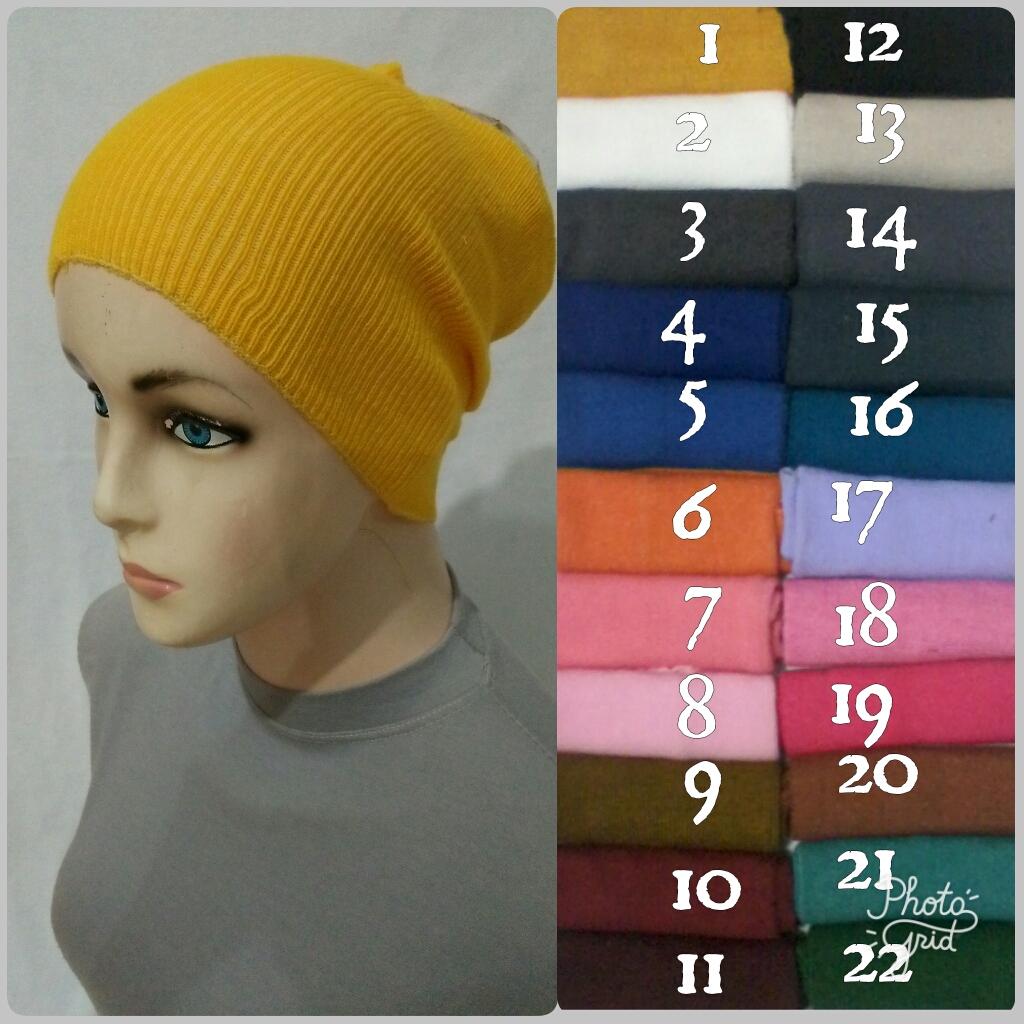 Hijab Makassar Inner N Manset Bandana Rajut Anti Pusing Llinner In061 Ecer 13rb Grosir 10rb