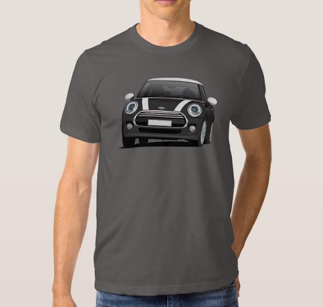 Black/white MINI Cooper S t-shirt