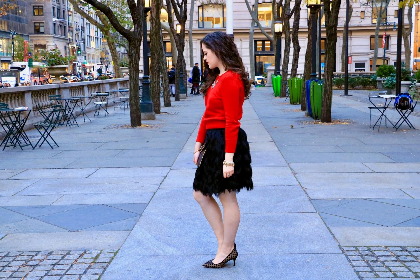 how to wear black fringe skirt